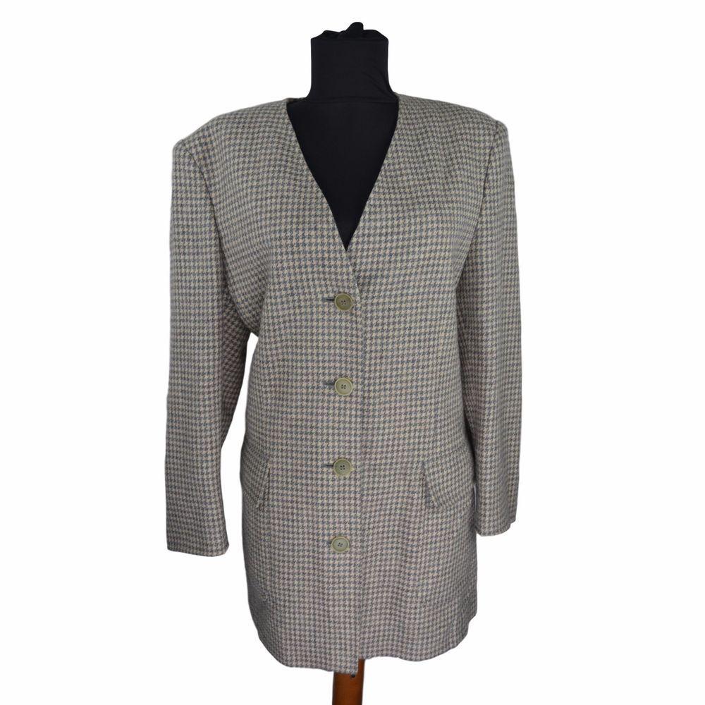 Ladies MaxMara Blazer size 16 UK Houndstooth Wool Jacket Business Gr. DE 42  B41  MaxMara  Blazers  Business e76a1d13638