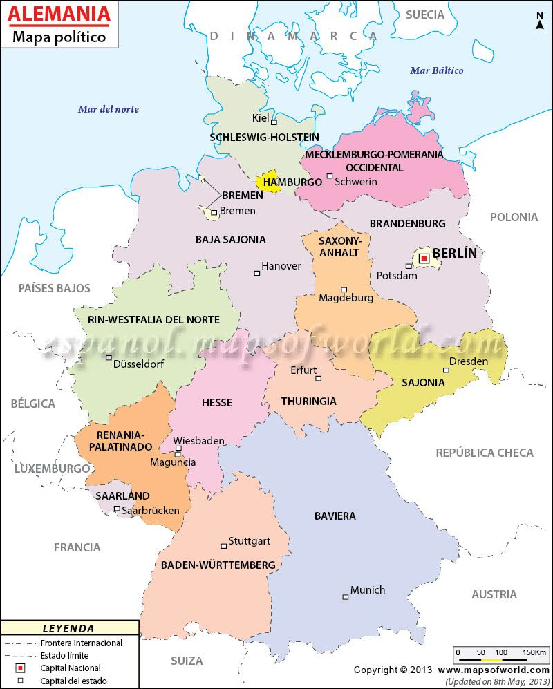 Mapadealemania EGermany Pinterest - Germany map 2015