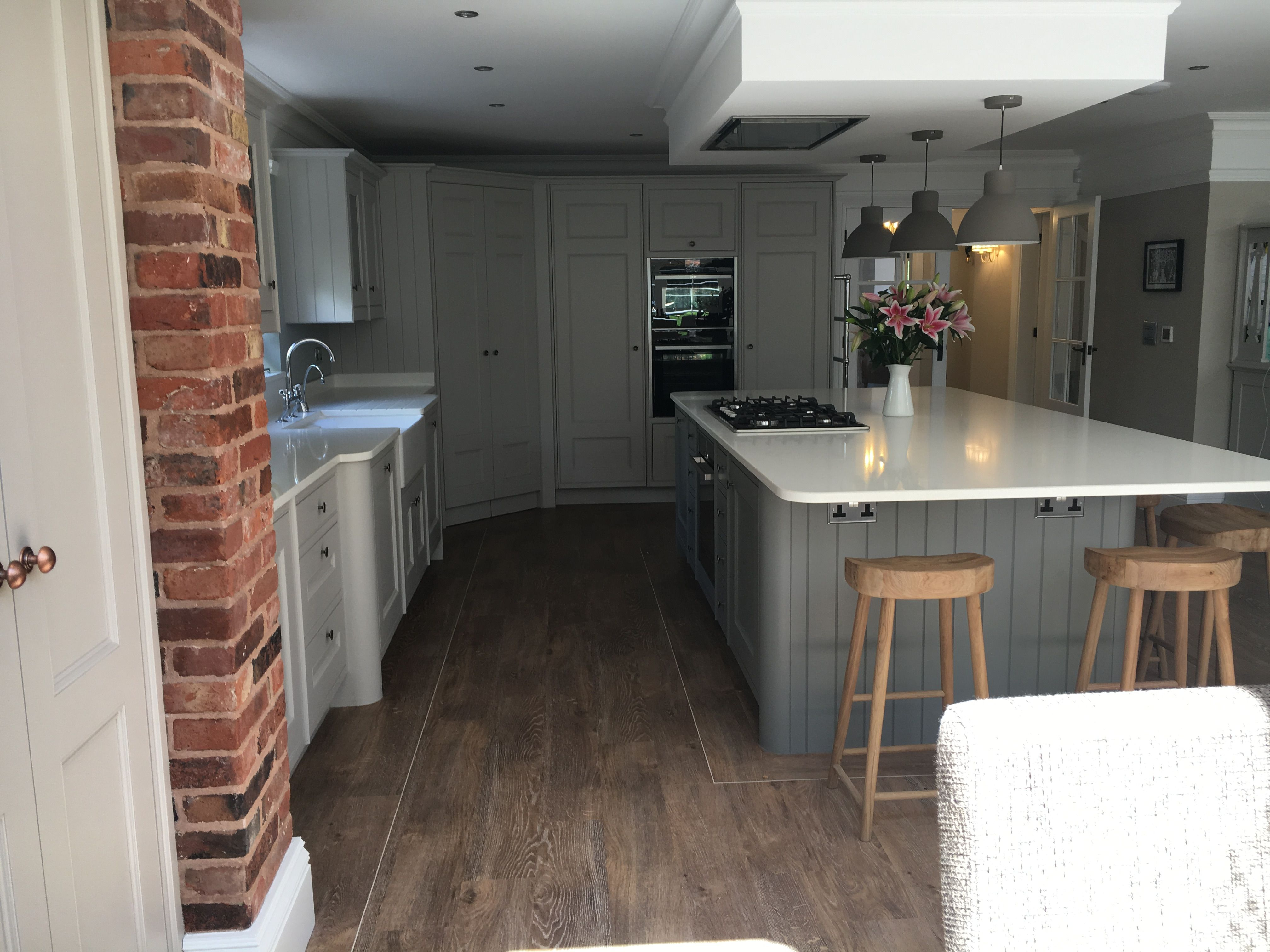 Best Grey Bespoke Wooden Kitchen Farrow And Ball Cornforth 640 x 480
