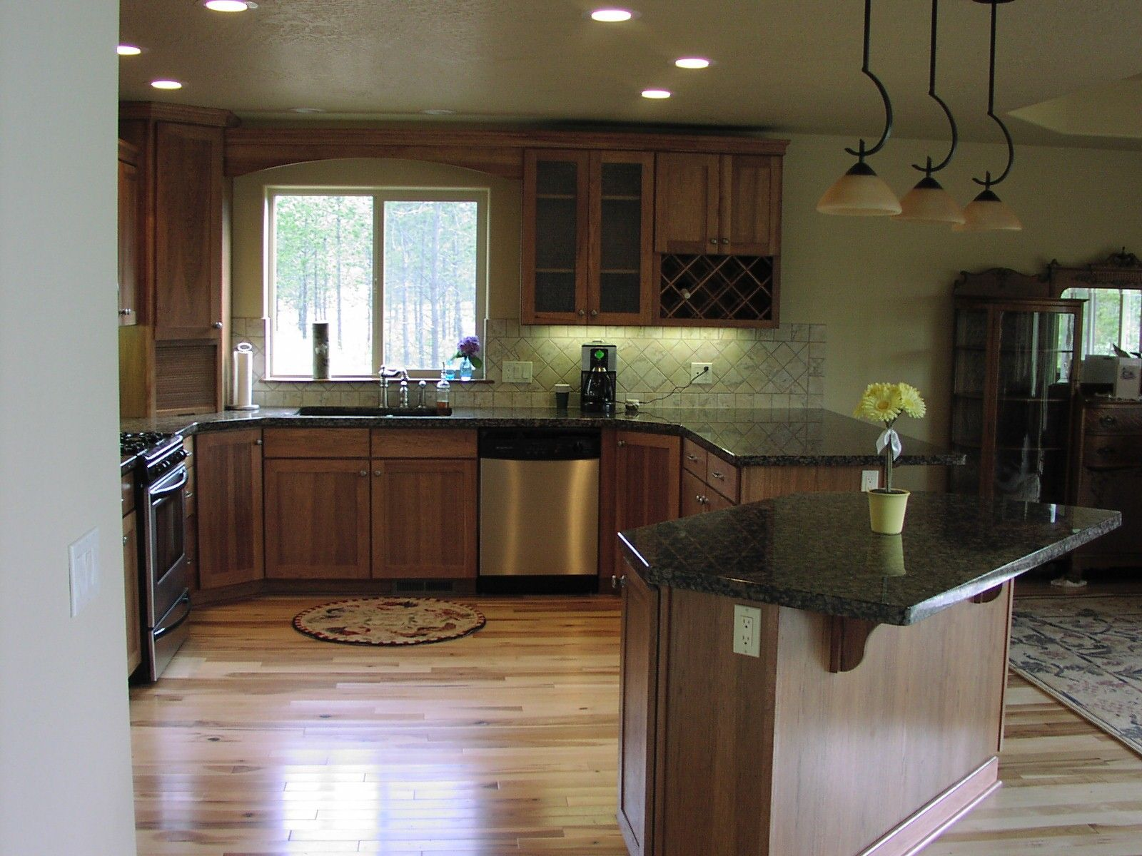Wood Kitchen Countertops Black Cabinets Kitchen Colors For Hickory Cabinets  Hickory Cabinets And Granite