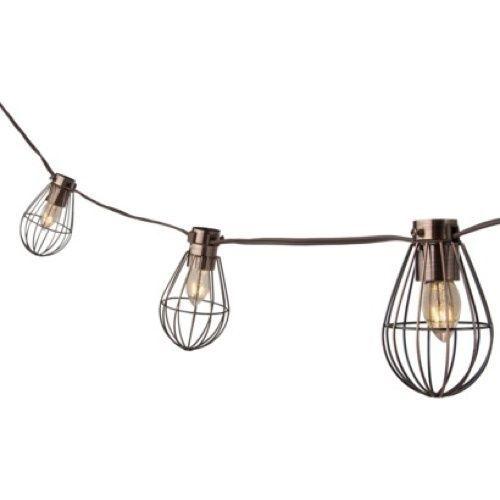 Outdoor Lighting Patio Porch Deck Yard Garden Caged Lantern String Light