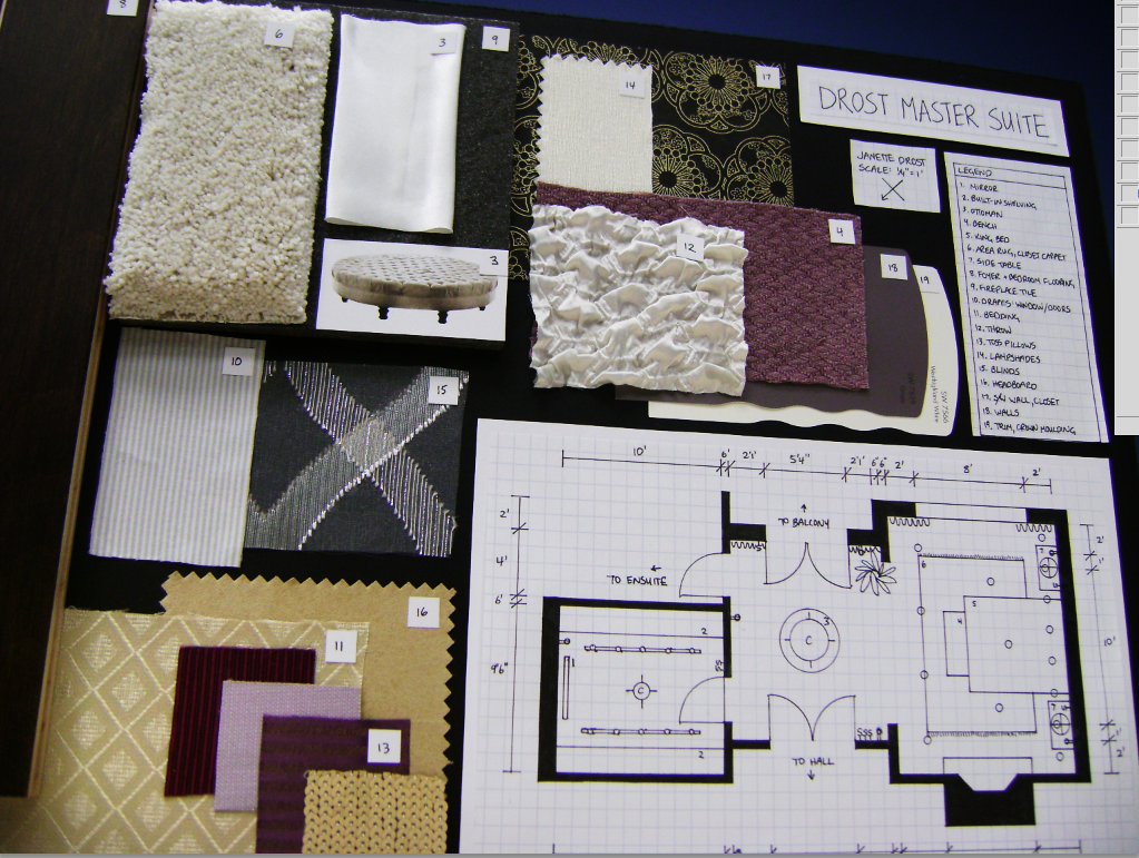 Traditional Interior Design Board