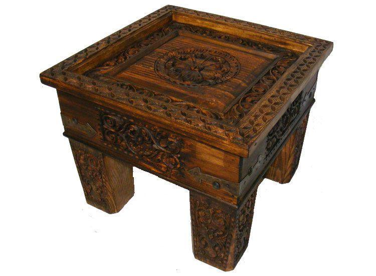 60x60 Cm Antik Look Kolonialstil Orient Teetisch Tisch Couchtisch