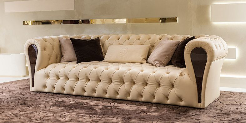 Tufted 3 Seater Leather Leisure Sofa Mayfair Sofa By Turri Luxury Sofa Contemporary Sofa Design Sofa Design
