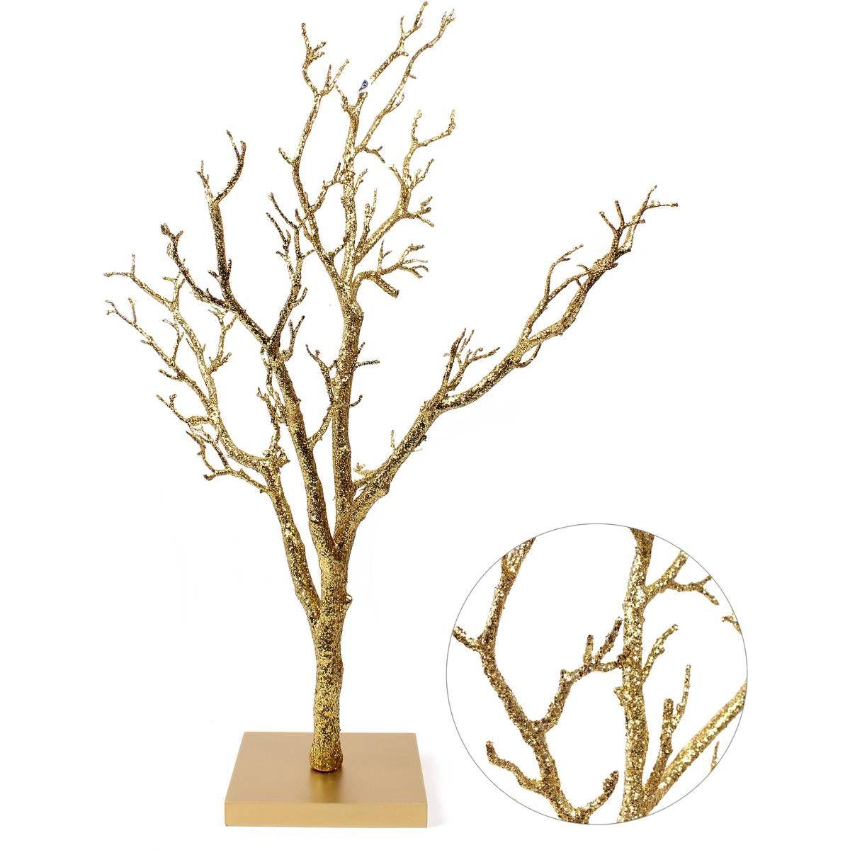 Gold Glitter Twig Tree 76 Cm | Hobbycraft