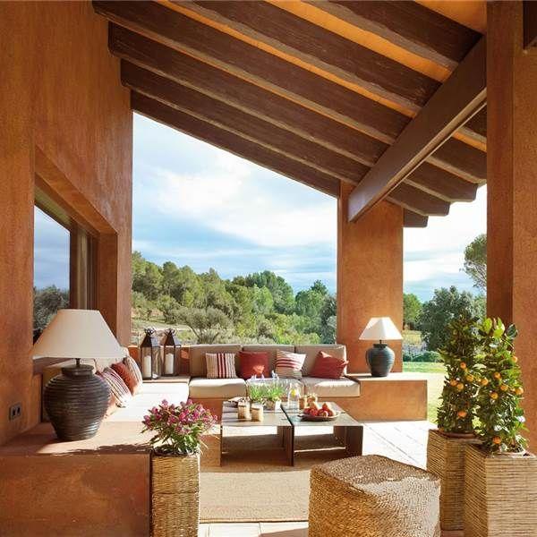 Porches y terrazas naturalmente bonitos patio - Terraza casa de campo ...