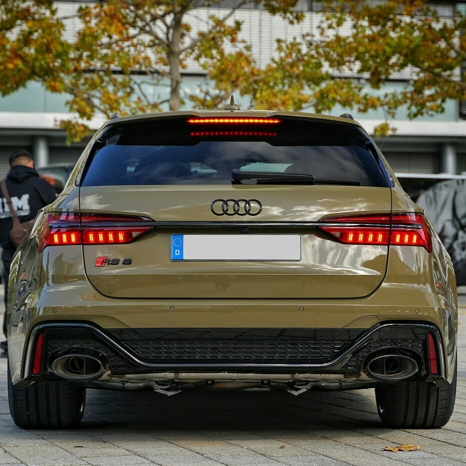 Army Green 2020 Audi Rs6 Arrives Looks Ready To Invade Autoevolution Audi Wagon Audi Rs6 Audi