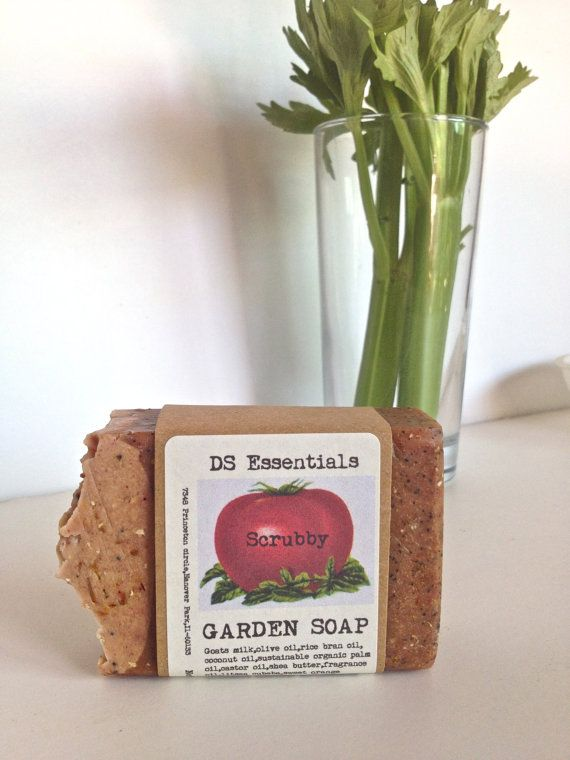 https://www.etsy.com/listing/124199213/scrubby-garden-soap-enriched-with-goats?ref=shop_home_active_22 SCRUBBY GARDEN SOAP, Enriched With Goats Milk, Exfoliating,Cleaning While Conditioning