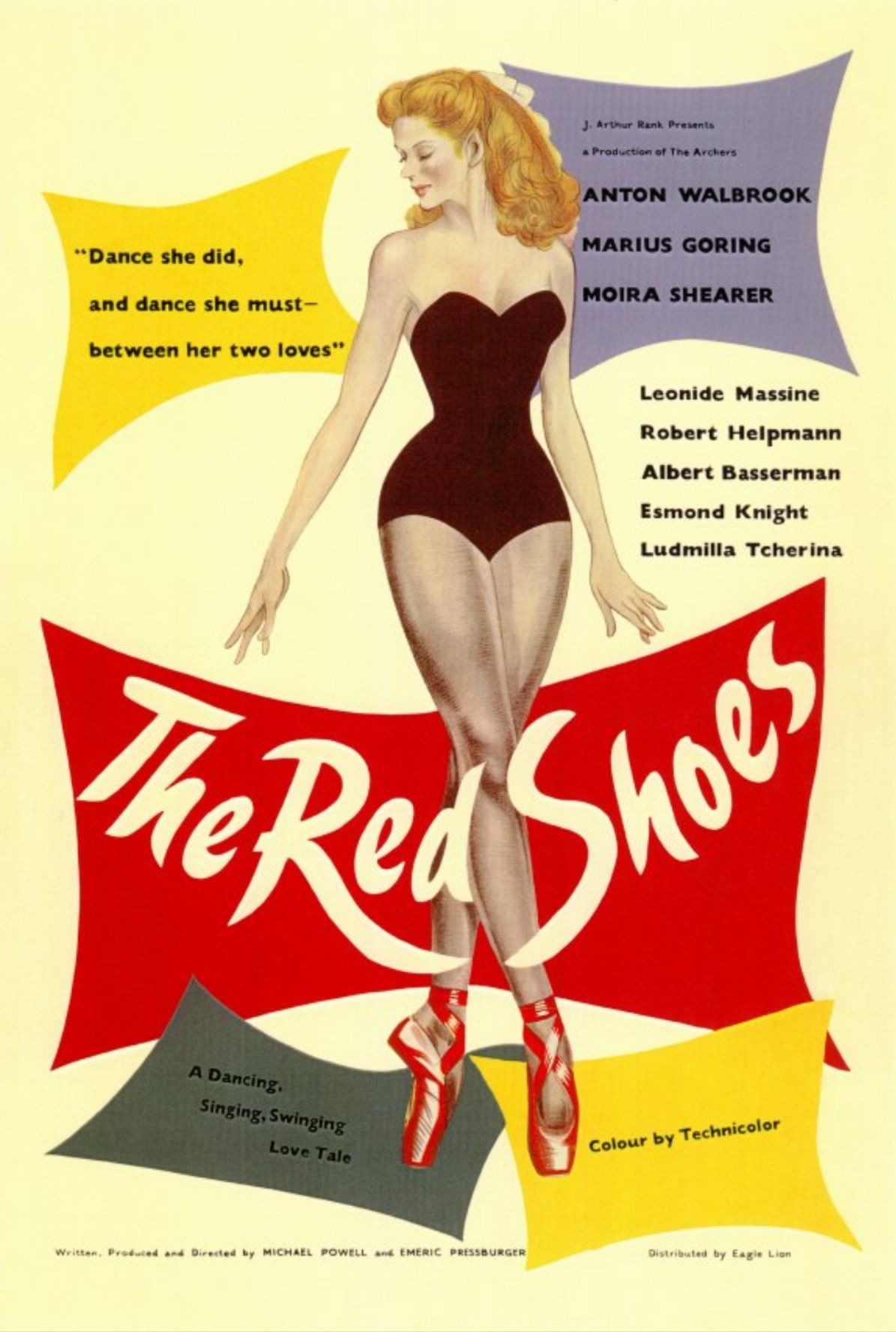 Vintage Poster The Red Shoes Dance Shoe Poster Red Shoes Movie Posters Vintage