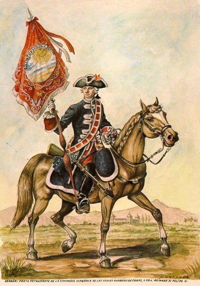 Regno di Spagna - Guardias de Corps. Compañía Española 1704 Portaestandarte