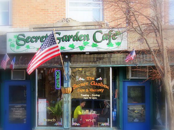 Secret Garden Cafe By Kay Novy Cafe Art Garden Cafe Fine Art