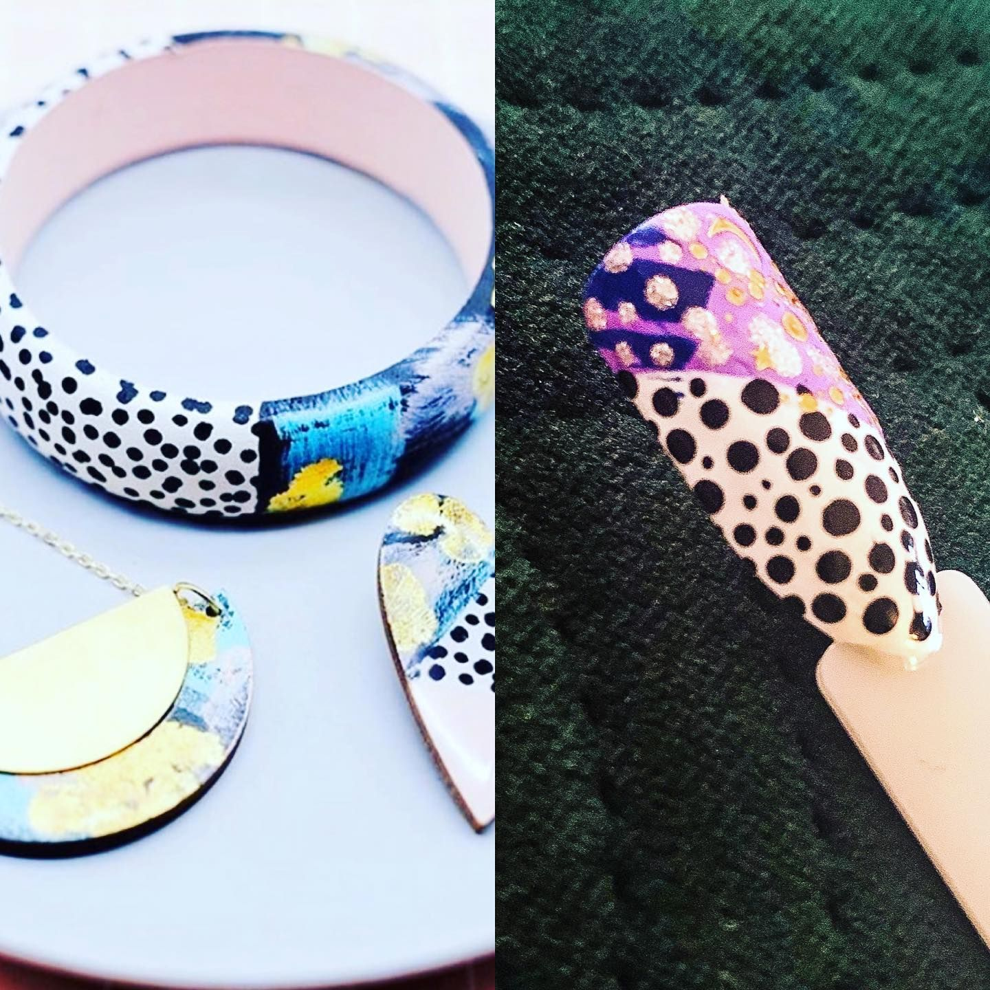 Its time for #pupitweekly week 2! I think Ive mastered dotting and I also had a play with @magpie_beauty nail art stickers too! Hopefully Ill get better and better the more I do my #coronachallenges  Colours used are; @peaccibrand Daisy Madam Fizz and @opinailsuk Keeping Suzi at Bay and Black Onyx  #scratchmagazine #thegelbottle #notd #nails #manicures #nailart #peacci #chinaglaze #nailtech #beauty #pupitweekly #polisheduppinterest #nailnovice #coronaviruschallenge #lockdownlearning #gelnails #t