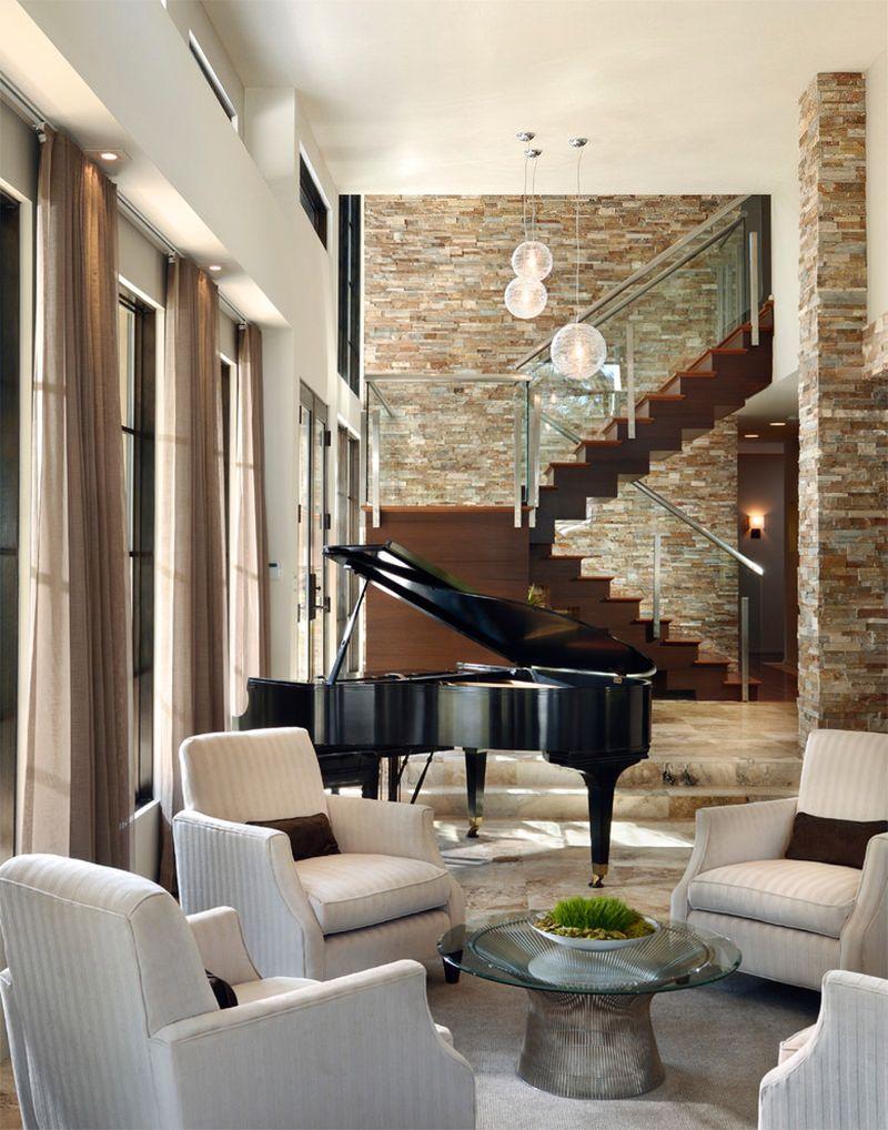 Piano na sala de estar, 16 ideias para voc se inspirar. Piano RoomGrand  PianosLiving ...