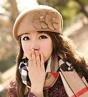 For Sale - Hot Beige Women Lady's Formal 100% Wool Beret Cadet Cap Wedding Church Dress Hat