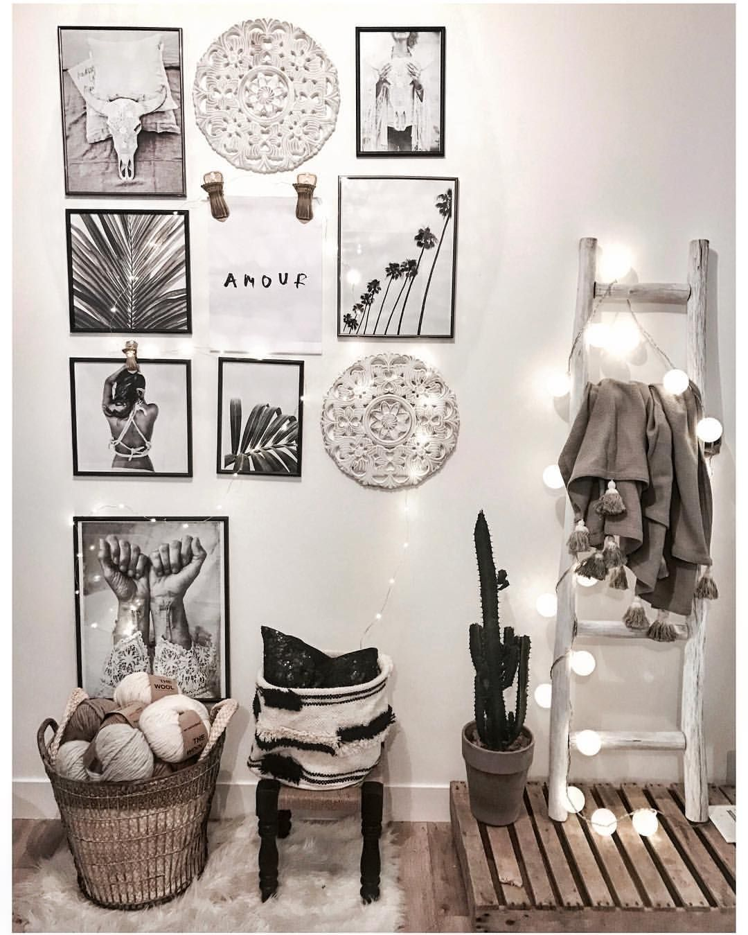 Deco photo noir blanc deco pinterest noir for Chambre instagram