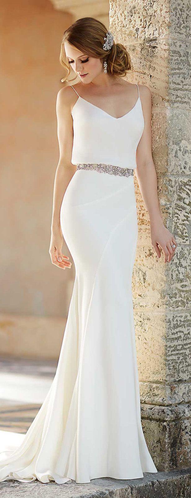 Martina Liana Spring 2016 Bridal Collection Simple Classy Wedding DressWedding