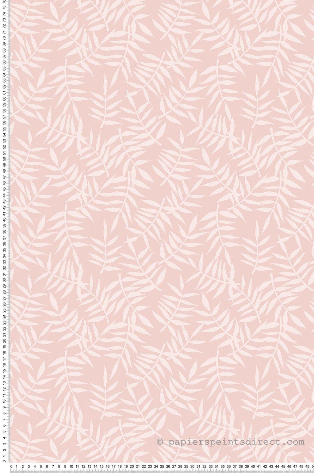 Feuillages Roses Papier Peint De Lilipinso En 2020 Papier