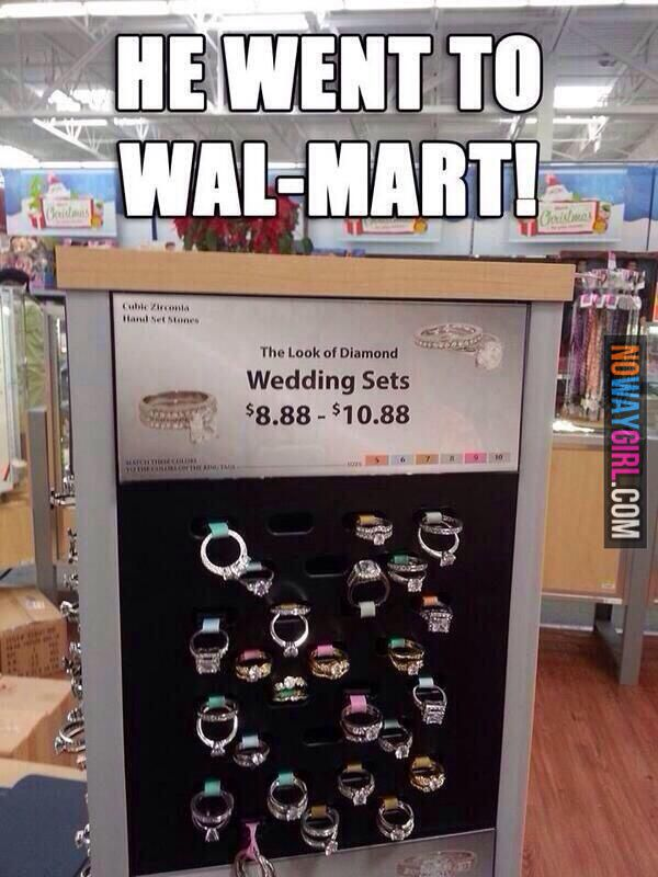 Walmart When You Want To Marry In Style But Still Need