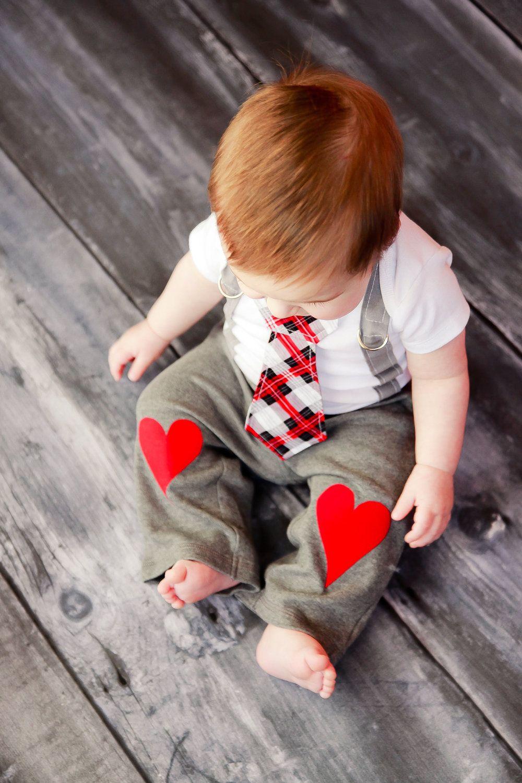 Boys Heart Knee Patch pants  via Etsy.