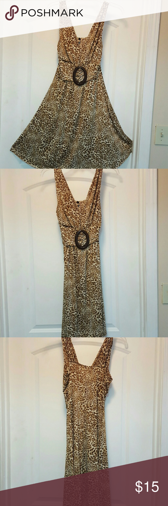 Leopard print dress Sexy for  cocktail or casual  ocation Dresses Maxi