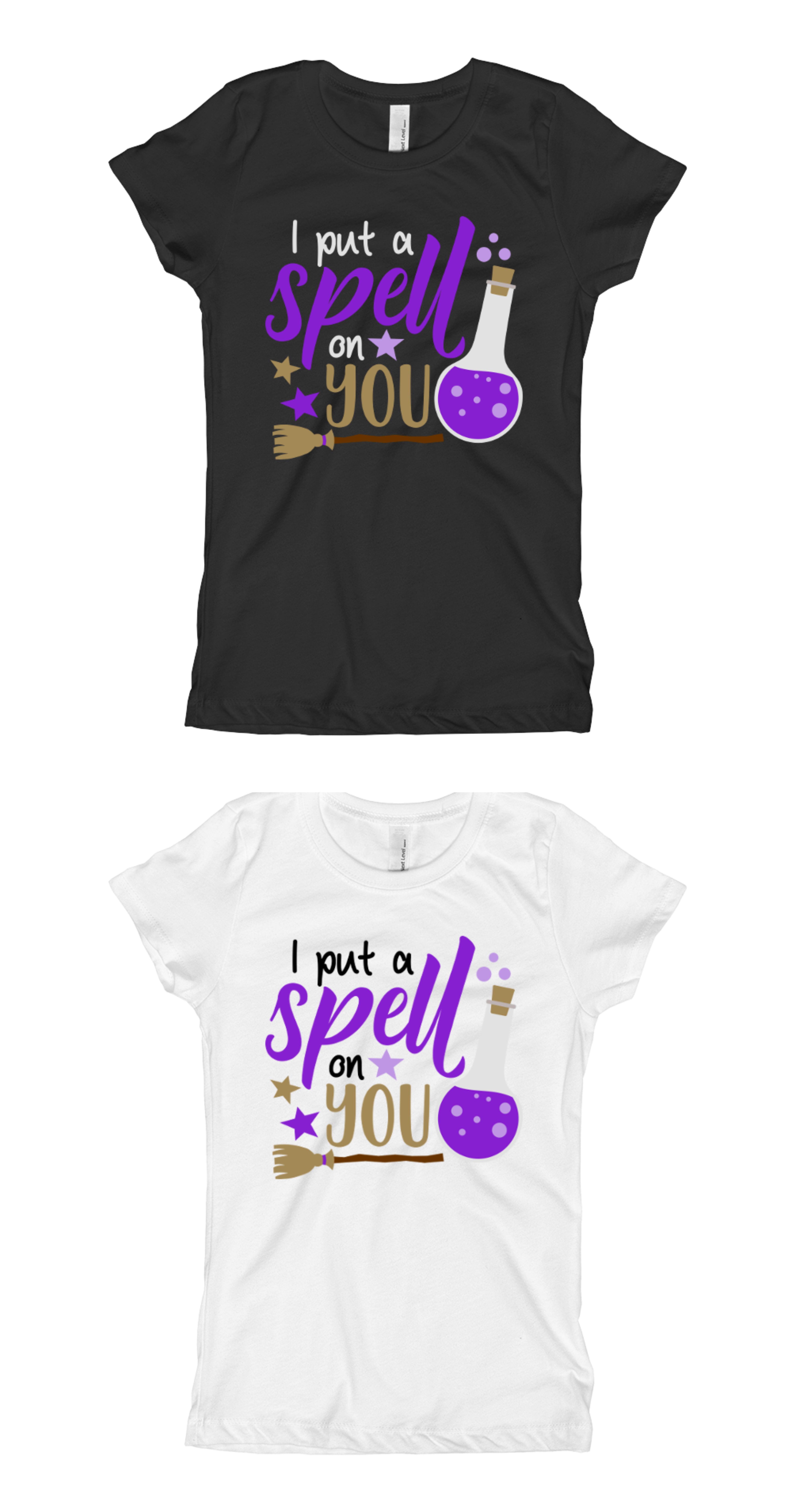 7d80c36d Girls Halloween Shirt Baby Outift - I Put a Spell on You Girls Shirt ...