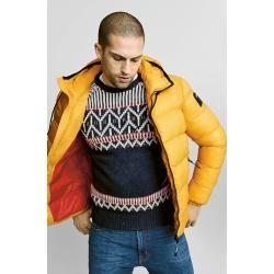 Photo of Übergröße: Replay, modischer Pullover im norwegischen Muster in Schwarz für Herren Replay