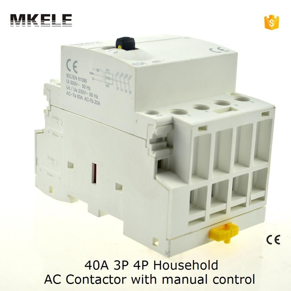 Mkwct 40m Household Ac Contactor 220v Wct 40amp 3 Pole 3no Modular Way Switch Operated Contator By