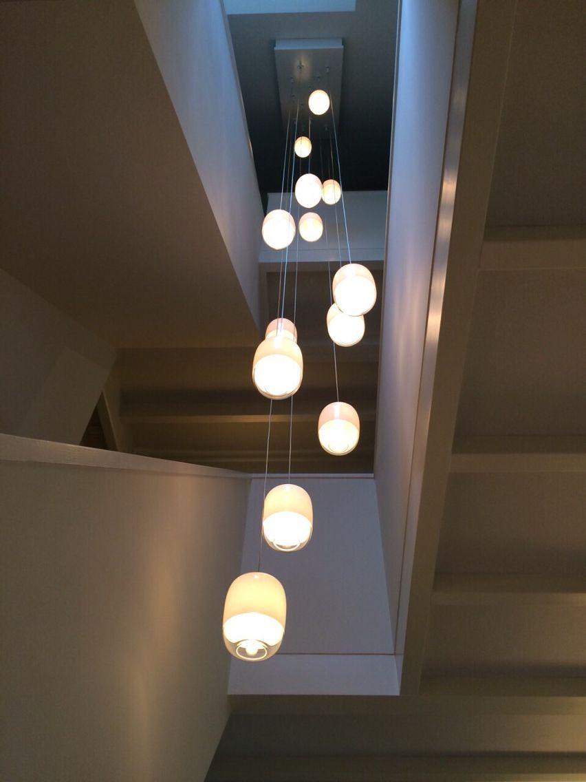 Lampjes in het trappenhuis Lampen treppenhaus