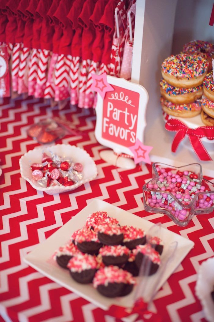 Doll dresses and sweets from American Girl Doll Themed Birthday Party at Kara's Party Ideas. See more at karaspartyideas.com!