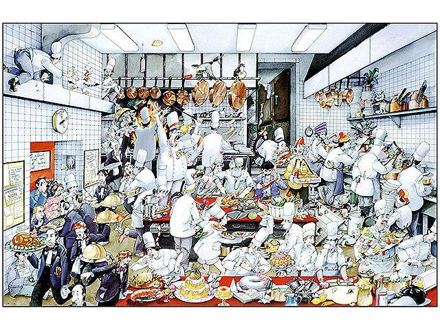 poster la cuisine de roger blachon (30 x 44,5 cm) | cuisine and