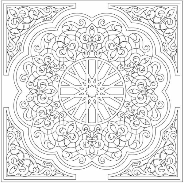 arabic floral patterns coloring book by elaine57 - Coloring Book Patterns