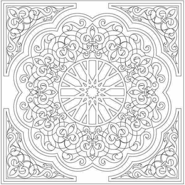 Arabic Floral Patterns Coloring Book Mandala Coloring Pages Coloring Pages Coloring Books