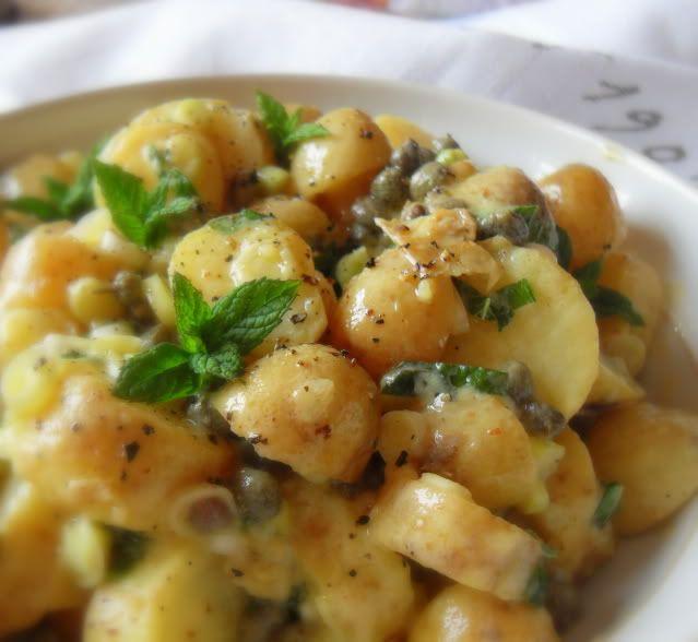 Photo of *Warm Potato Salad with a Caper, Spring Onion and Mint Vinaigrette* Recipe