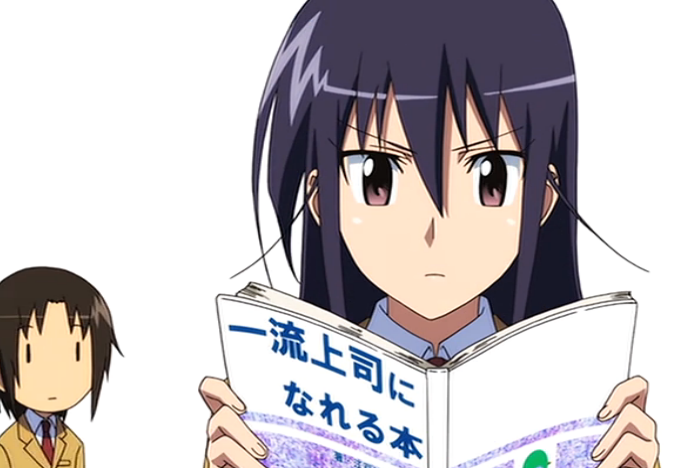e35: Shino tries to be a humorous leader, though she didn't realize that she is one from the start