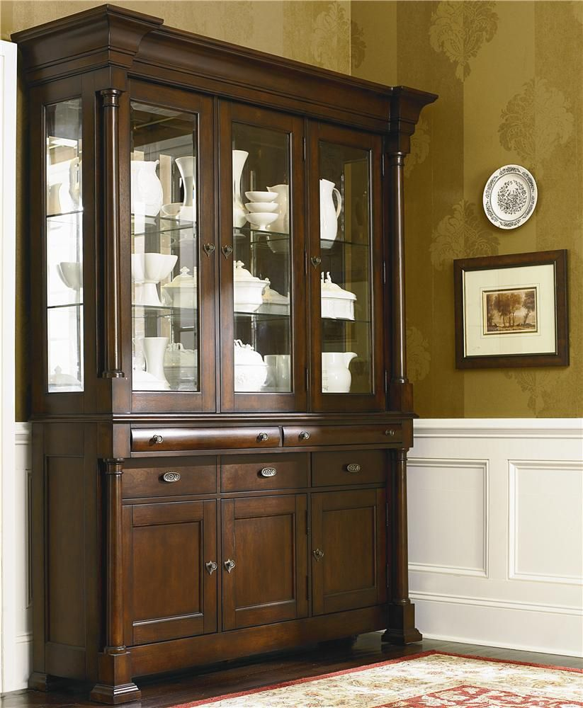 showcase your finest china dishes and decor with this china bassett louis philippe china cabinet with wood top sprintz furniture china cabinet nashville franklin brentwood and greater tennessee