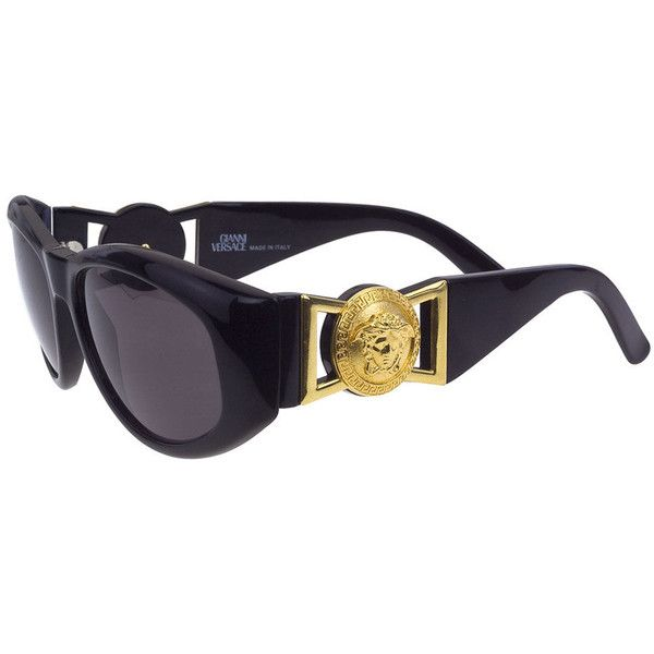 pre owned gianni versace sunglasses mod 424 925 liked on polyvore featuring accessories. Black Bedroom Furniture Sets. Home Design Ideas