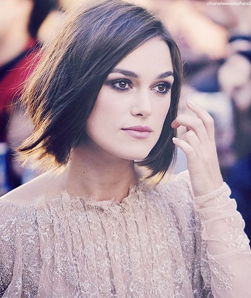 Keira Knightley S Hair Looks So Perfect Here Short Hair Styles Short Thin Hair Hair Styles