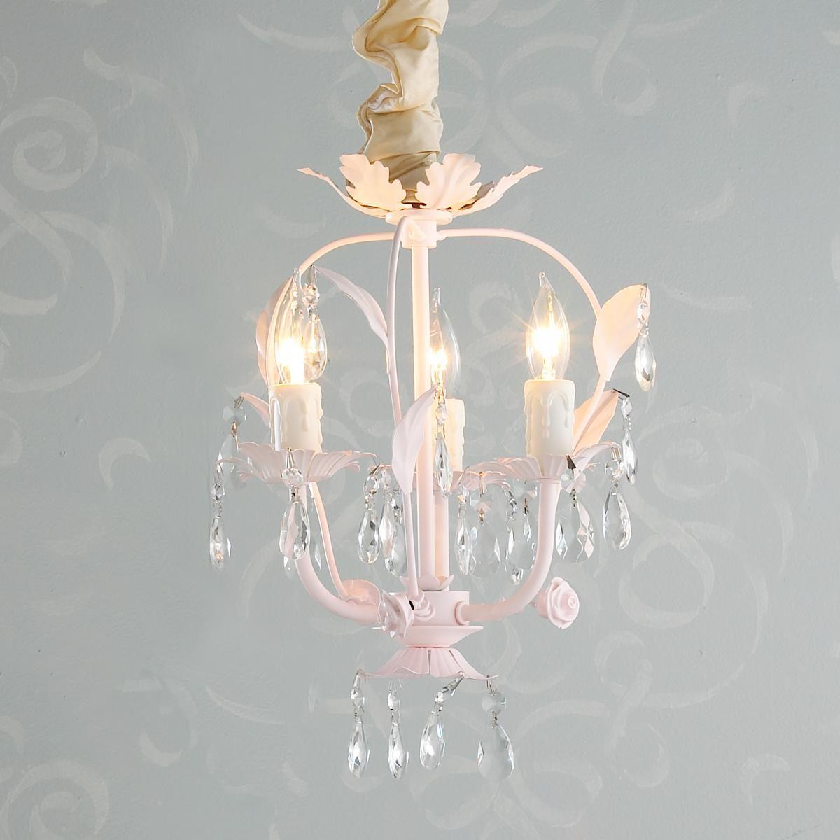 Framed crystal glam square ceiling light mini chandelier