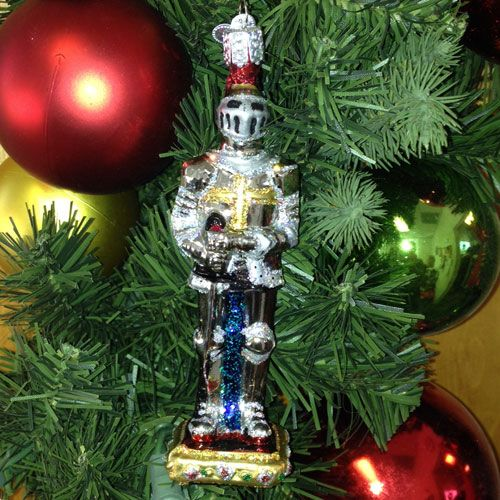 24134 Knight In Armor Glass Christmas Ornament Christmas Ornaments Glass Christmas Ornaments Knights Of Columbus
