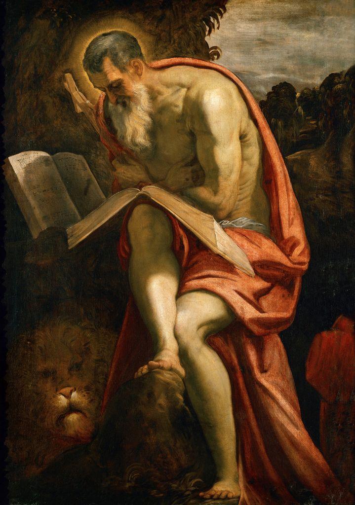 Tintoretto - San Gerolamo penitente - 1580