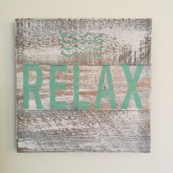 Hey, I found this really awesome Etsy listing at https://www.etsy.com/listing/232123209/relax-reclaimed-wood-signlake-house