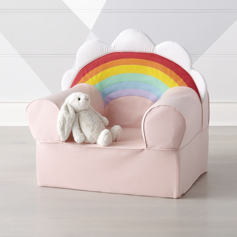 Large Rainbow Nod Chair Reviews Crate And Barrel Kids Lounge Chair Kids Seating Kids Armchair