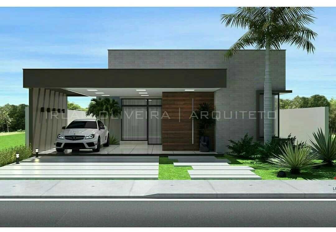Fachadas de casas modernas planta baja planos casa con for Plantas minimalistas para exteriores