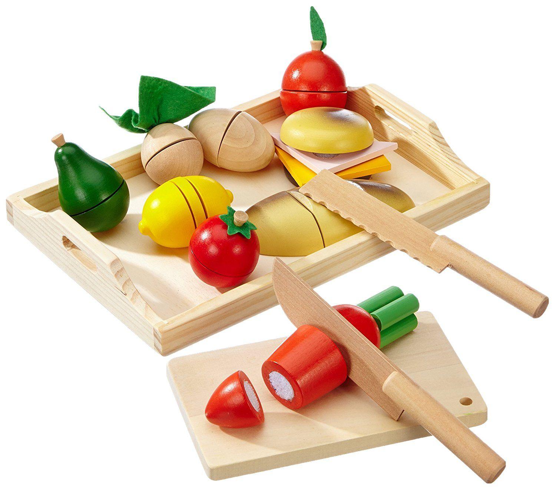 Schneide Fruhstuck Aus Holz Verschiedene Lebensmittel Wie Obst