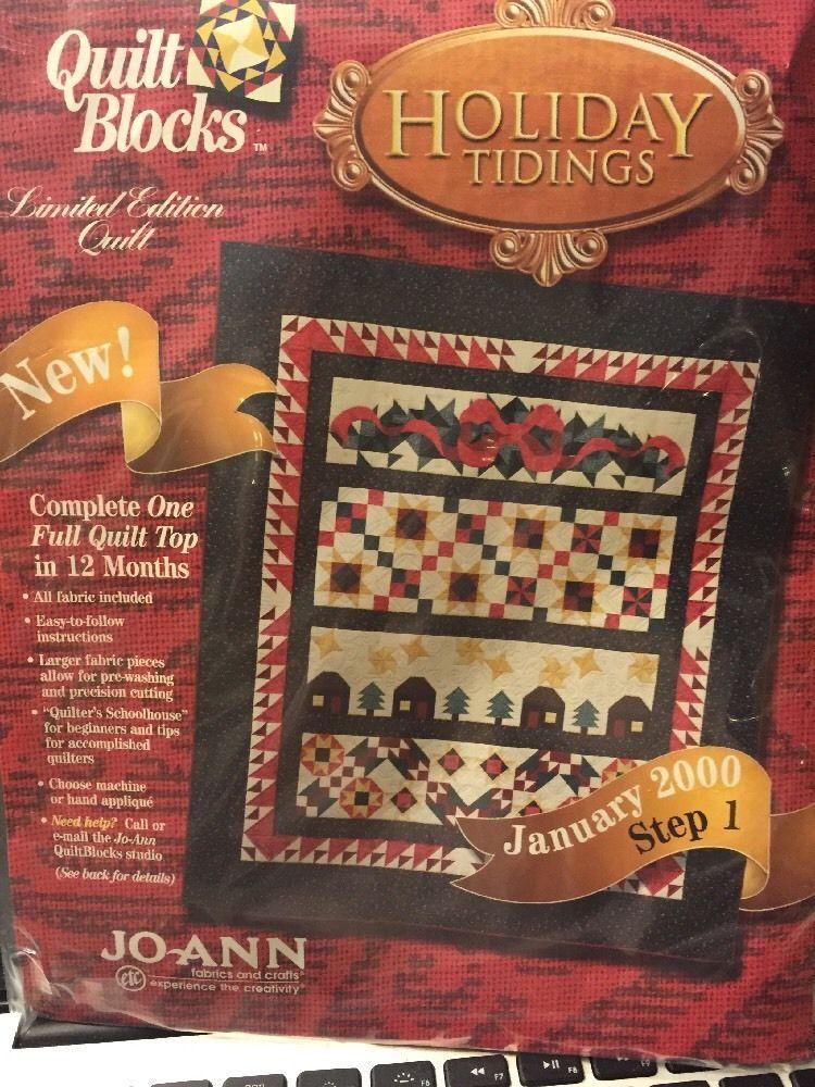 HOLIDAY TIDINGS Quilt Block of the Month Kit January 2000 JoAnn ... : joann fabrics quilt kits - Adamdwight.com