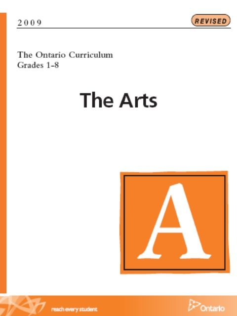 Policy-The achievement charts Ontario the arts curriculum - performance assessment