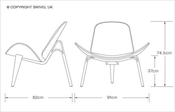 Hans Wegner Style Shell Chair Style Swiveluk Com