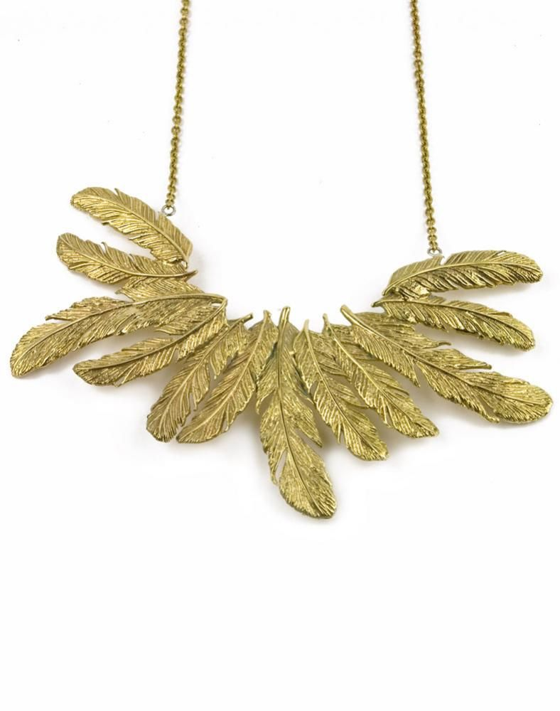 Drama Feather Necklace