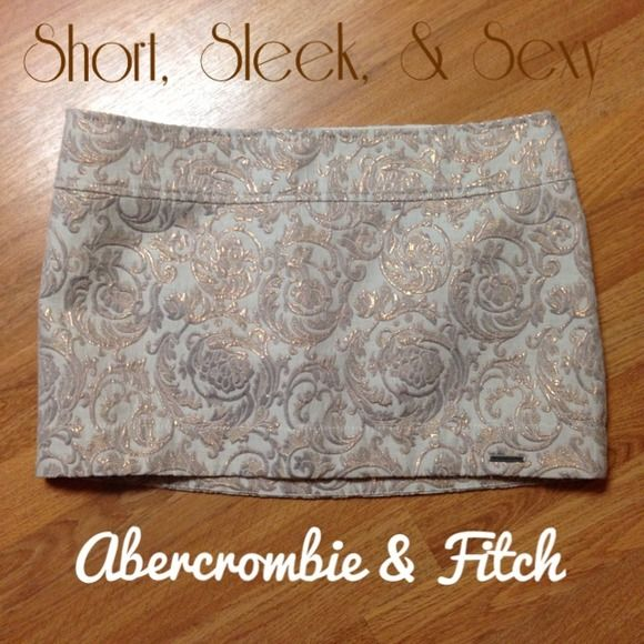 Abercrombie Short Jacquard Skirt Absolutely gorgeous. Looking for the right pair of tights to wear with this skirt...unless I sell it first. Most of the time this stuff sits in my closet. Size 4 W27. Lined. Abercrombie & Fitch Skirts