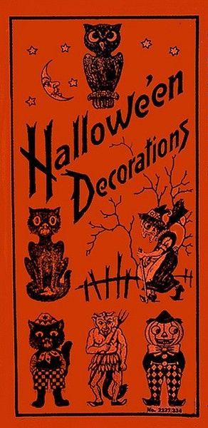 Vintage Halloween vintage cards and Printables Pinterest - vintage halloween decorations
